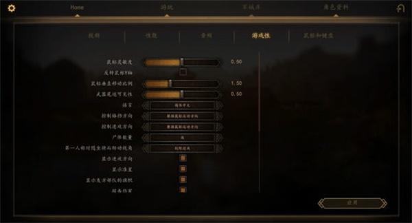 骑马与砍杀2中文版设置选项一览