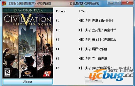 文明5美丽新世界修改器 +6 免费中文版