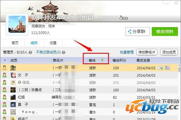 QQ群成员预览界面