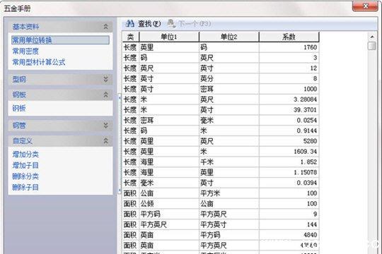 五金手册软件